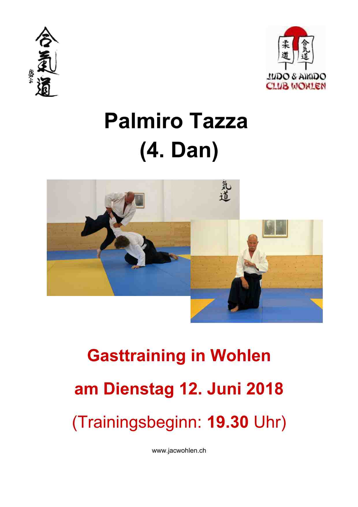 Gasttraining Palmiro Tazza in Wohlen 2018 am 12. Juni 2018