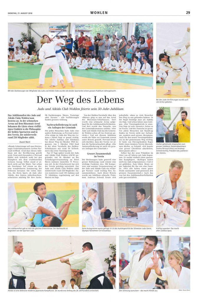 50 Jahre Judo und Aikido Club Wohlen!